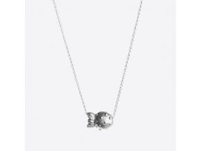 Stříbrný náhrdelník s divokou jahodou (Ag, 925/1000)