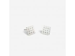 Náušnice PO 4x4 (Ag 925/1000)