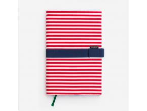 Cestovní deník - červený proužek