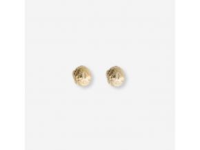 Chlebové náušnice - Pozlacené kuličky