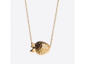 Mosazný náhrdelník s jahůdkou
