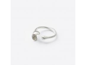 Prsten dvojlístek *002 (Ag 925/1000)