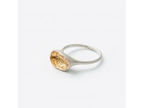 Prsten s pozlacenou lodičkou *005