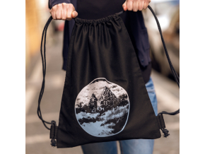 Plátěný batoh s tajemnou horou