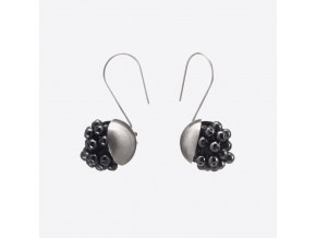 Zorya PEONY BERRY EARRINGS HEMATITE 01