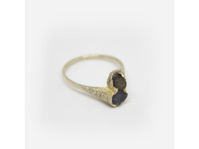 Prsten se dvěma safíry (Ag 925/1000)