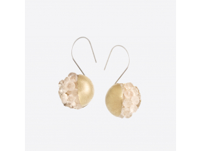 Zorya PEONY BERRY EARRINGS ROSE STONE 01