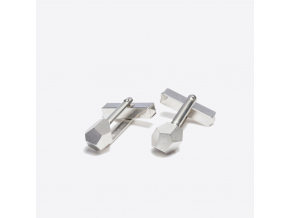 Zorya CRYSTALLINE ROCK CUFFLINKS rhodium 01