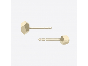 ZORYA CRYSTALLINE ROCK STUD EARRINGS gold 01