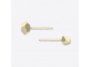 ZORYA CRYSTALLINE ROCK STUD EARRINGS gold 01