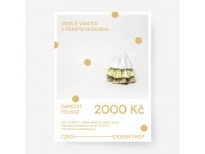 vanocni voucher 2000