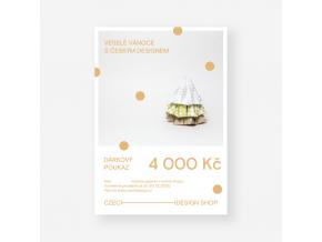 Vánoční voucher na nákup českého designu 4.000 Kč