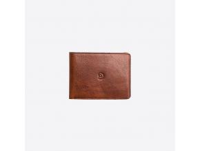 Kožená peněženka Slim na karty - tmavě hnědá