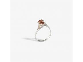 Prsten s kameny - spessartin (Ag 925/1000)