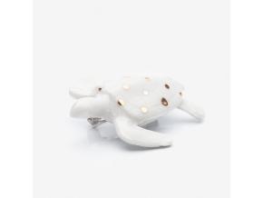 zvířecí brož porcelán puntíkatá želva MINKA