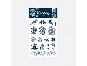 Tetovačky kresky Slovakia Gift modrotisk