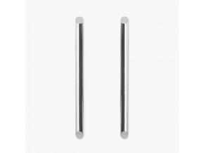 Point náušnice dlouhé stříbrné
