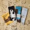 Nerozlučné ponožky hnědomodré - TRANSGAS