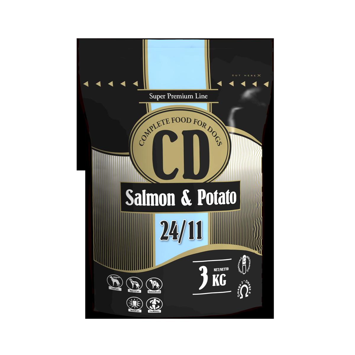 Delikan CD Salmon and potato 3 kg