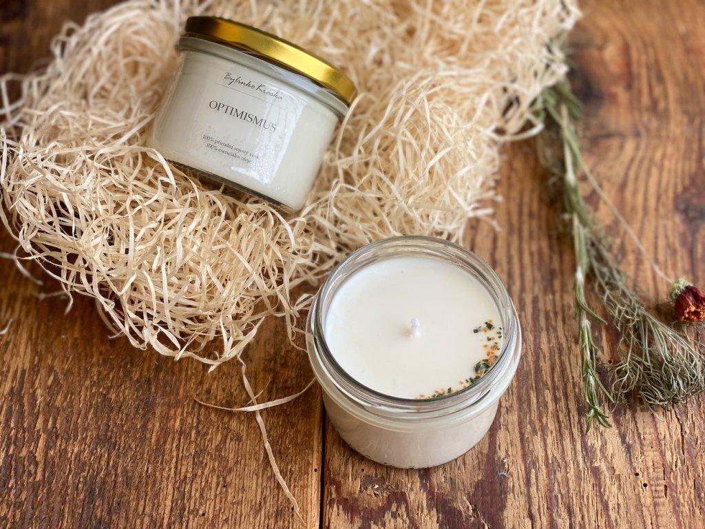 Přírodní sójová svíčka - Optimismus