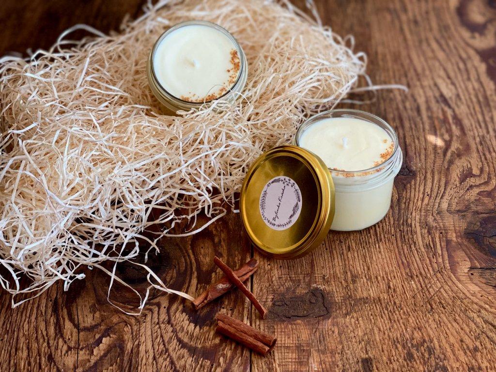 Přírodní sójová svíčka - Pomeranč skořice