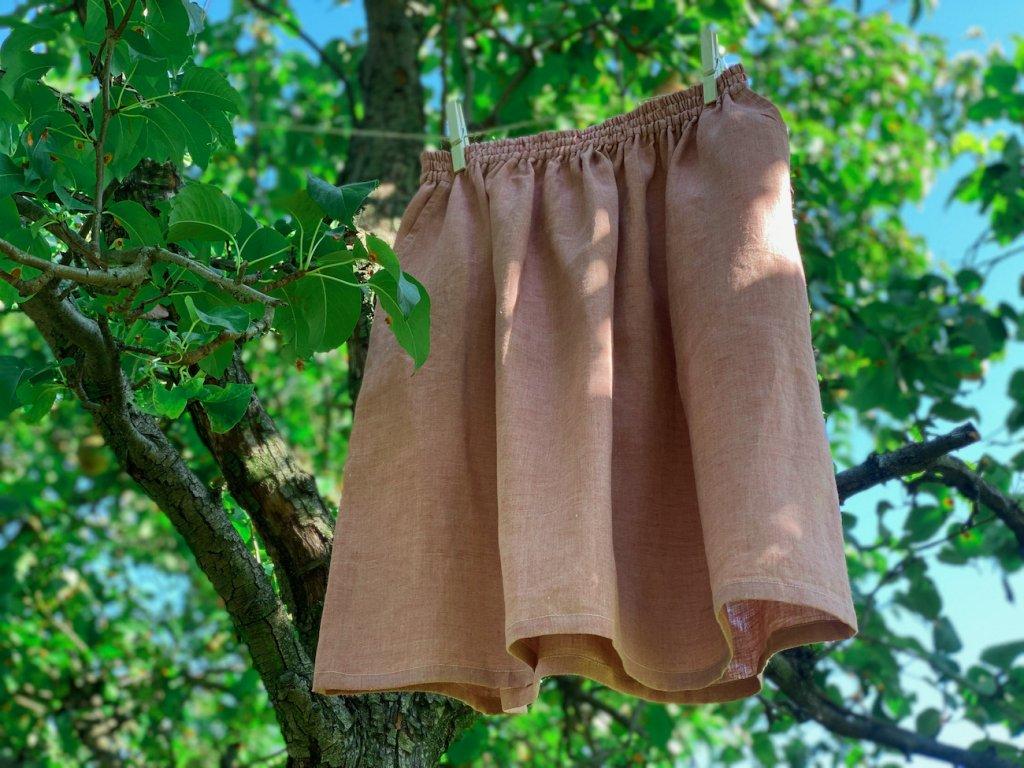 Sukně s kapsou - růžová