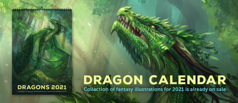 Preorder the collection of fantasy illustrations for next year