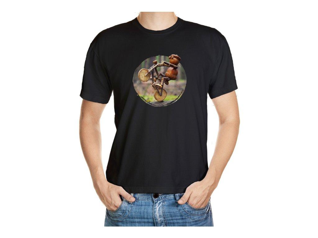 VÝPRODEJ: Zelené jablečné tričko velikosti XL s dubánkem jak frajeří na kole