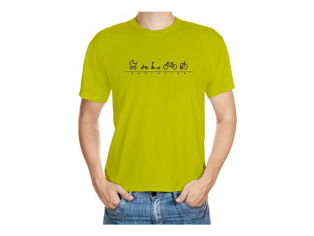 VÝPRODEJ: Bílé tričko velikosti M - Evoluce cyklisty