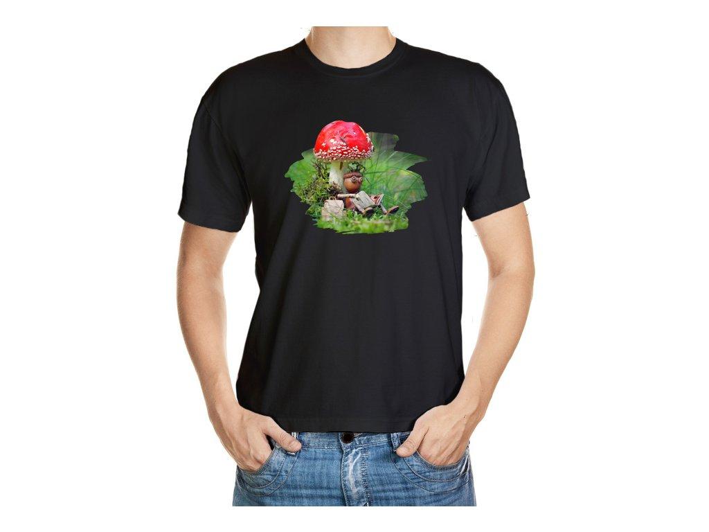 Tričko s dubánkem čtenářem pod muchomůrkou