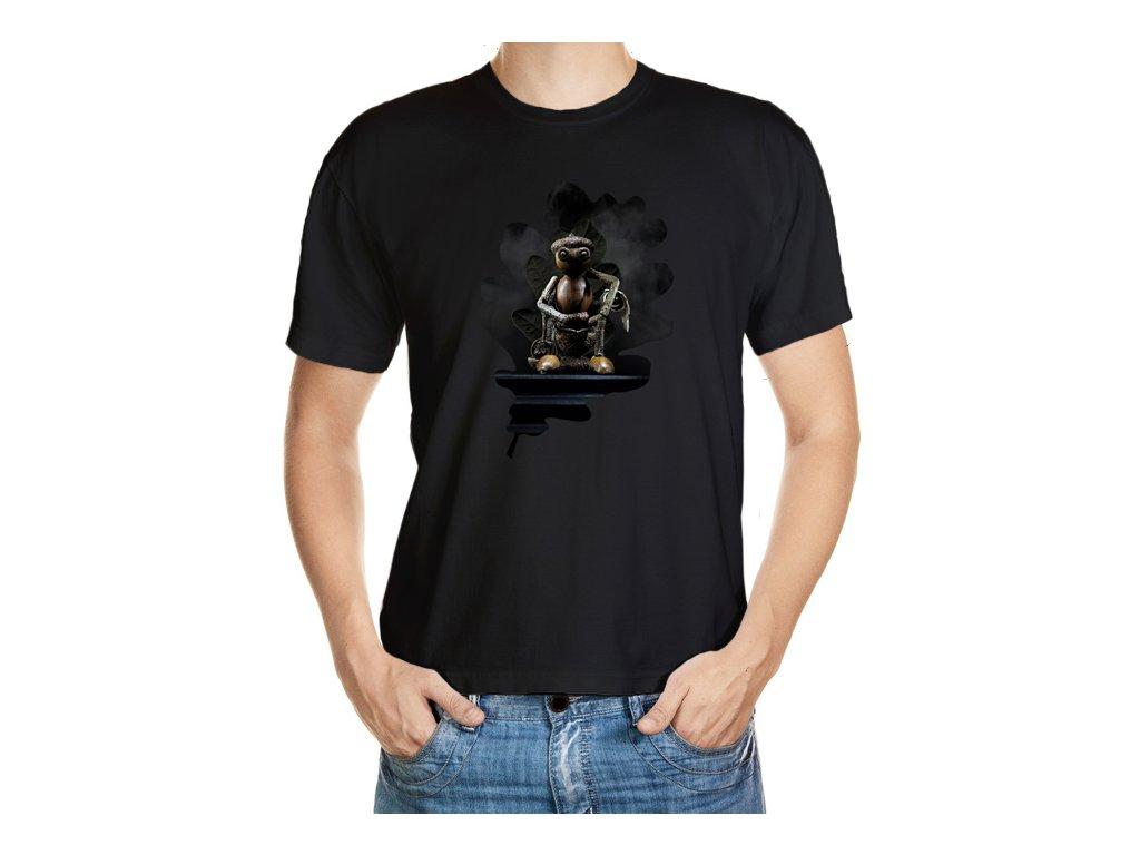 Tričko s dubánkem na trůnu