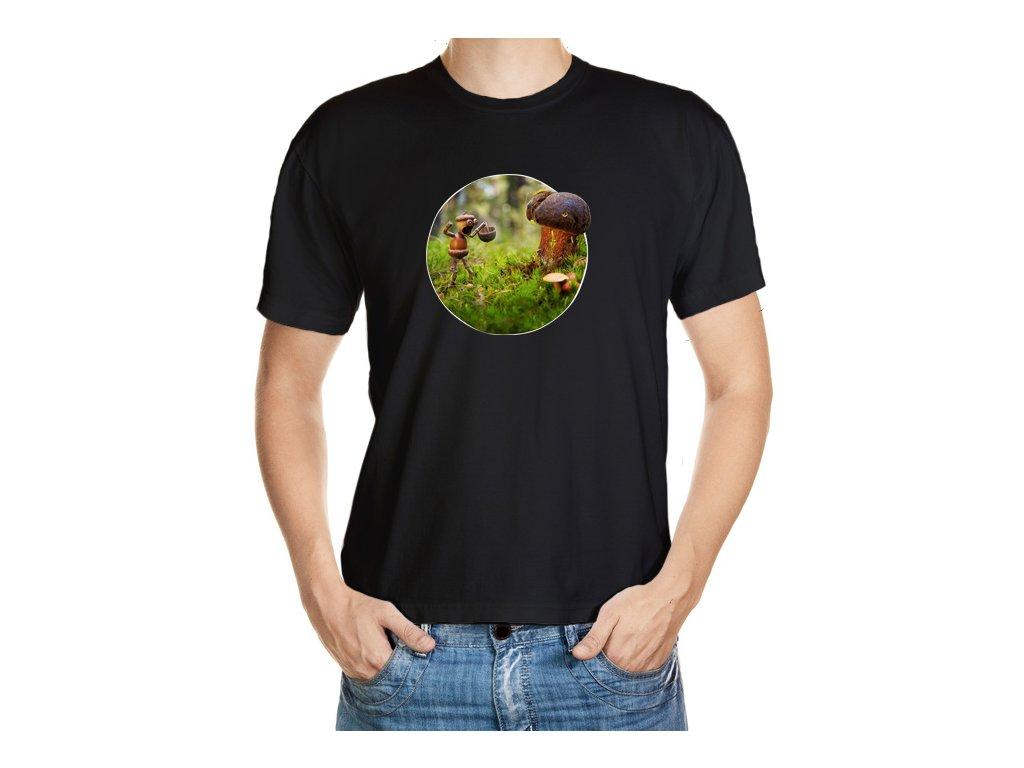 Tričko s houbařem