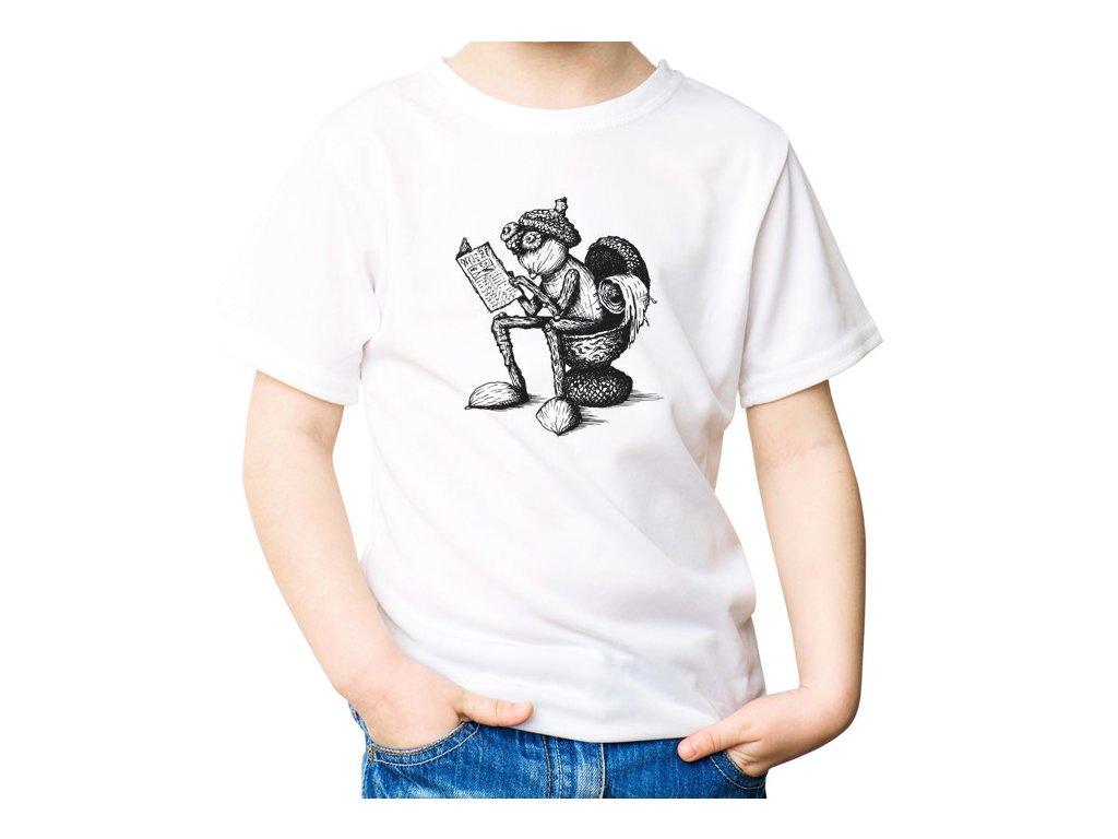 Tričko s kresleným záchodovým dubánkem