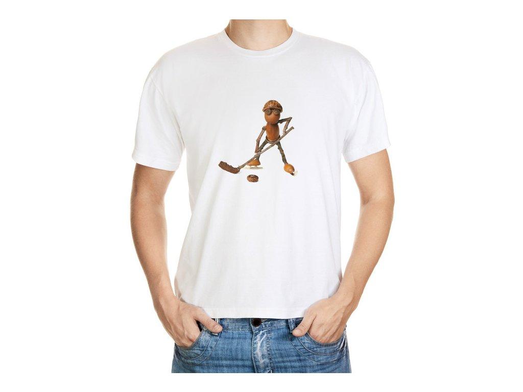 Tričko s dubánkem hokejistou