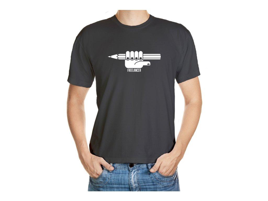 Tmavé tričko pro freelancery