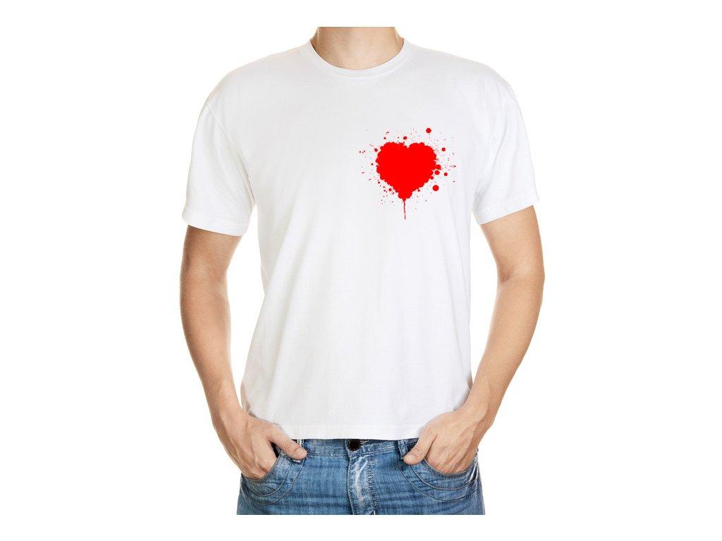 Tričko krvavý Valentýn
