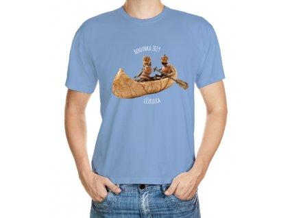 VÝPRODEJ: Růžové vodácké tričko velikosti M - duběnka s dubánkem v kanoi