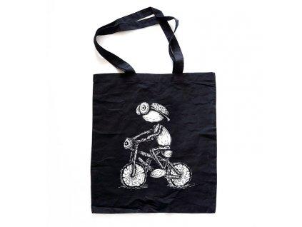cerna taska cyklista