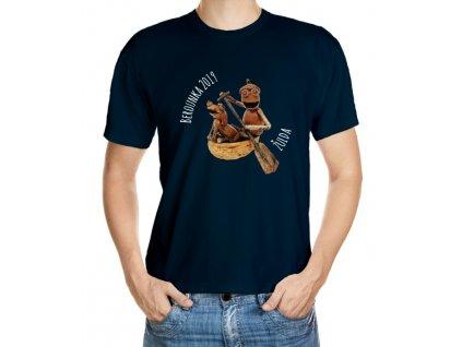 Vodácké tričko - dubánek ve člunu se psem