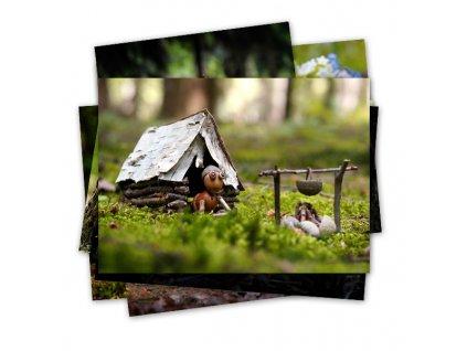 Dubánčí pohlednice na tábor