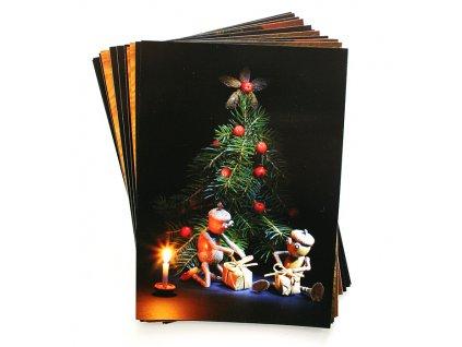 Vánoční dubánčí pohlednice