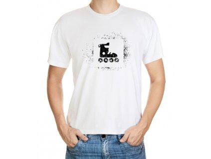 Tričko pro bruslaře (černá verze potisku)
