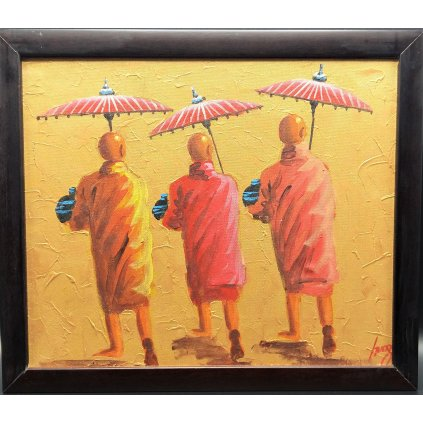 Obraz Buddhističtí mniši