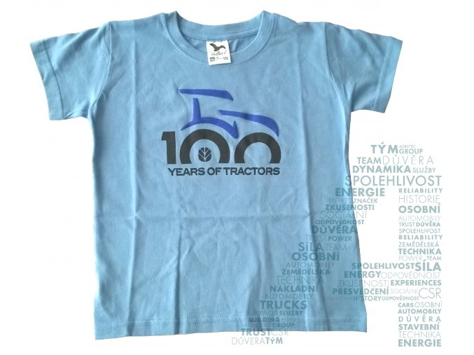 Dětské tričko 100 let traktorů