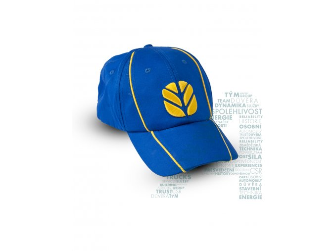 modrá kšiltovka se žlutým logem NH