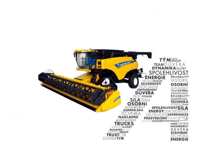 Model sklízecí mlátičky CR9090