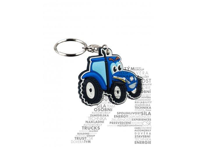 Přívěšek na klíče – usmívající se traktor
