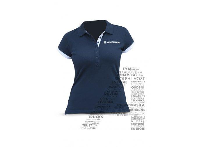 0002587 polo shirt woman whiteblue 660