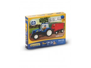 0003049 tractor with press bricks 126pc