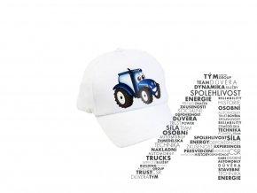 Bílá kšiltovka s traktorem